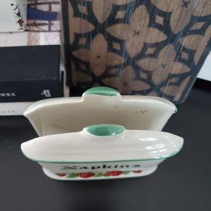 Vintage Dining - Vintage Antique Strawberry Napkin Holder Japan